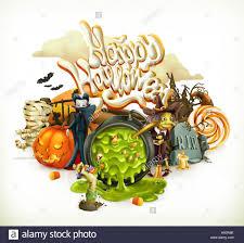 pumpkin invitation halloween 3d vector invitation pumpkin witch vampire candy