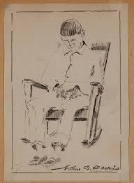 Rocking Chair George Jones Untitled Man Seated In A Rocking Chair Detroit Institute Of