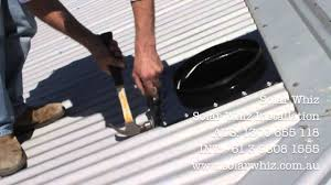 solar whiz installation demo on a metal roof youtube