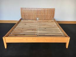 ikea king size ikea super king size wooden bed frame with slats in blandford