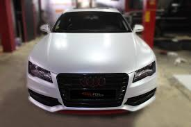 matte wrapped cars car wrap dubai audi a7 wrapped in white pearl semi matte youtube