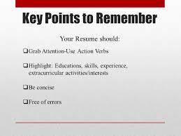 Use Action Verbs Resume by Basic Resume Writing Ppt Video Online Download