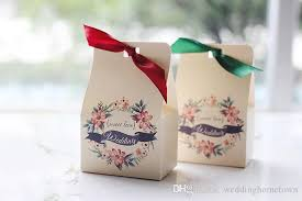 Wedding Candy Boxes Wholesale Fabulous Forest Style Flowers Pattern Wedding Favor Boxes 2017