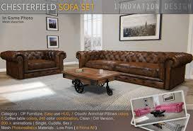 Chesterfield Sofa Set Second Marketplace Chesterfield Photorealistics Sofa Set