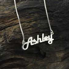 silver name chain necklace images Personalized sterling silver name necklace letter necklace retro jpg
