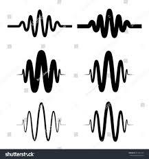 Sound Wave by Sinusoidal Sound Wave Black Symbol Vector Stock Vector 417024199