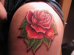 on upper thigh tattoo