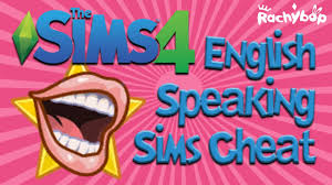 the sims 4 english speaking sims cheat youtube