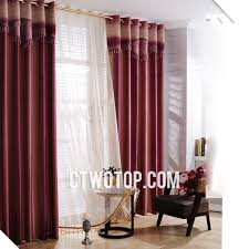 ready made beautiful living room burgundy and rose red curtains