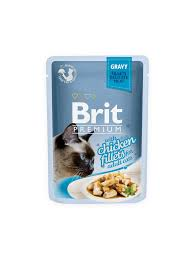 brit cuisine brit premium cat pouch with chicken fillets in gravy for cats