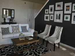 grey accent wall grey accent wall bedroom with vaulted ceiling