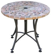 Wrought Iron Accent Table Wonderful Outdoor Accent Tables Sanstone Mosaic Accent Table With