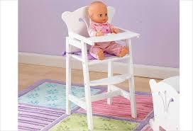 chaise pour mobilier pour poupon chaise haute blanche en bois pour poupon kidkraft