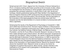 of biographical sketch