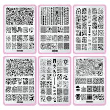 amazon com cici u0026sisi nail stamping stamping plate set jumbo 5