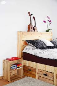 Diy Pallet Bed With Storage by Pallet Wood King Size Bed With Drawers U0026 Storage U2022 1001 Pallets