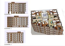 building plan architecture excellent 3d apartment building architecture drawing