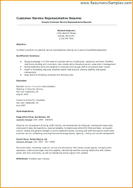 resume sample summary customer service resume summary examples
