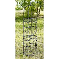 garden obelisk black steel 78 in high hayneedle