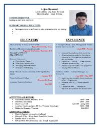 Best Resume Builder For Freshers by Demo Resume Format Resume For Your Job Application