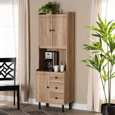 kitchen storage cabinets with drawers designer studios patterson modern and contemporary oak brown finished 3 drawer kitchen storage cabinet