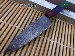 custom made kitchen knives 10 5 inches custom made damascus steel tang 6 5 blade
