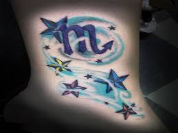 cool scopion zodiac tattoo with stars scorpion tattoo houston