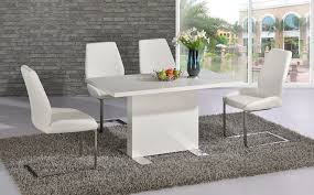 Black Gloss Dining Room Furniture White High Gloss Dining Table Visionexchange Co