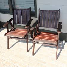 Teak Patio Chairs Jarrah Teak Patio Chairs Ebth