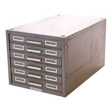 Industrial File Cabinet Vintage Industrial Gray 6 Drawer Kardex Style File Cabinet Chairish