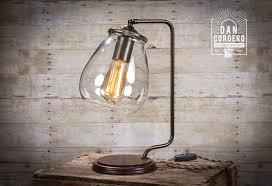 glass shade edison bulb table l bronze desk l