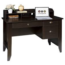Onespace 50 1617 Executive Desk With Hutch And Usb Charger Hub Target