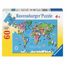 Europe Map Puzzle by World Map Puzzle 60 Pieces Walmart Com