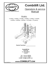 combilift ltd operators u0026 service manual elevator truck