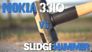 Nokia Brick Meme - nokia 3310 vs sledgehammer youtube