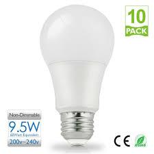 Led Light Bulbs Lumens by 10pcs 9 5w E27 A60 Led Light Bulb 800 Lumens 5000k Daylight Bulb