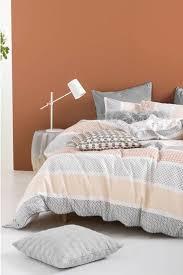 Linen House Bed Linen - linen house asuka cotton percale quilt cover set kb harris scarfe