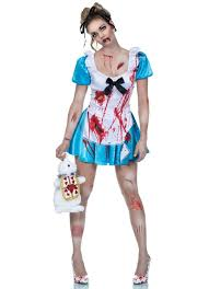 Zombie Halloween Costumes Adults Horrorland Alice Zombie Costume Bloody Alice Halloween Costume