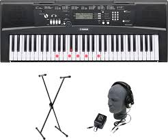 yamaha keyboard lighted keys yamaha portable keyboard with 61 touch sensitive lighted keys black