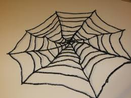 how to make a spider web for halloween halloween spiderweb door decoration the lovebugs blog