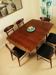 Mid Century Modern Lane Acclaim Dining Table And Chairs - Lane furniture dining room