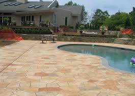 Concrete Patio Resurfacing by Breathing New Life Into An Outdated Patio With Concrete