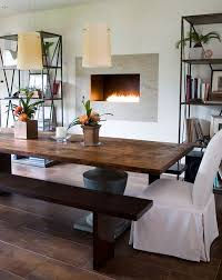 Rustic Farmhouse Dining Table With Bench Dining Room Inspiring Dining Room Farm Tables Farmhouse Table