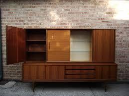 vintage ground danish modern mid century bar china cabinet and