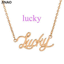 monogram gold necklace classic fashion monogram words necklaces lucky word necklace best