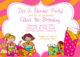 slumber party birthday party invitation slumber party