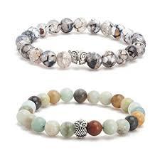 bead bracelet mens images Dream catcher mens bead bracelet for men matte beaded jpg