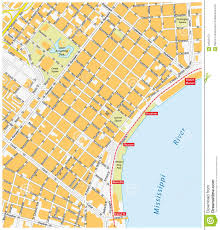 Maps New Orleans by French Quarter Map New Orleans Stock Illustration Image 64500173