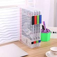 Clear Desk Organizer Plastic File Folders Clear Desk Paper Organizers Letter Size