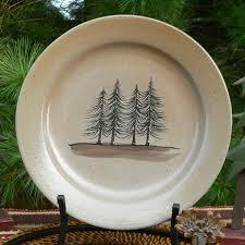 northwoods pine trees dinner plate